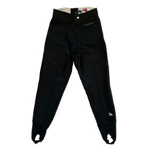 Serac Schoeller Skifans Stretch Black Pants Size 4
